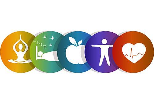 Wellness series blog graphic.
