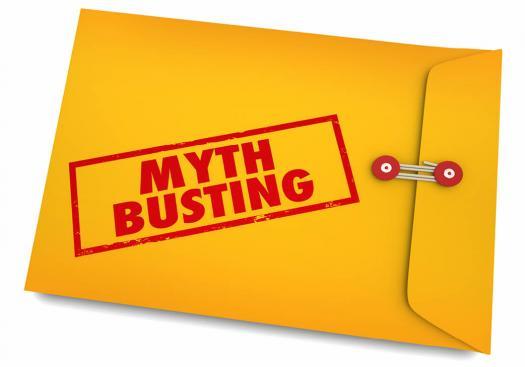 Myth busting envelope graphic.