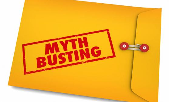 Myth busting envelope graphic.