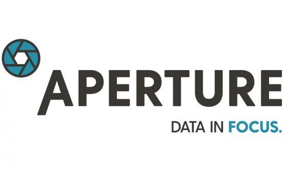 Aperture, data in focus logo.
