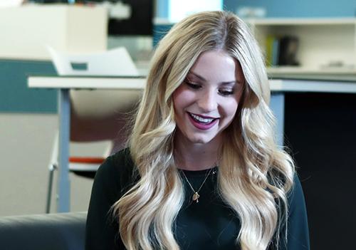 Morgan Agster smiling.