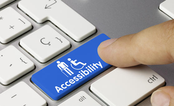 Accessibility button on a keyboard.